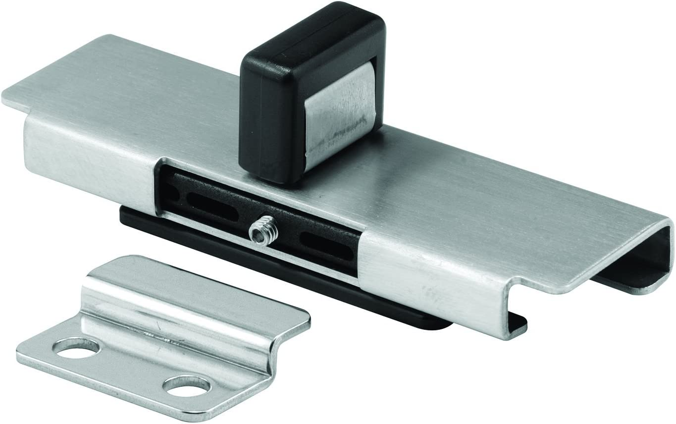 """Sentry Supply 656-9875 7/8"""" Stamped Stainless Steel """"Bobrick"""" Style Latch Inswing Doors Slide Latch with Keeper"""