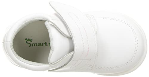 9c8489383449 Smart Step Boys White Velcro Closure Wide Width Walking Shoes 3 Baby-8  Toddler  Amazon.co.uk  Shoes   Bags