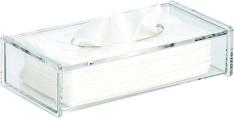 Kela 18487 Clear Bo/îte /à mouchoirs Acrylique//Plastique Transparent 26 x 13,5 x 6,5 cm