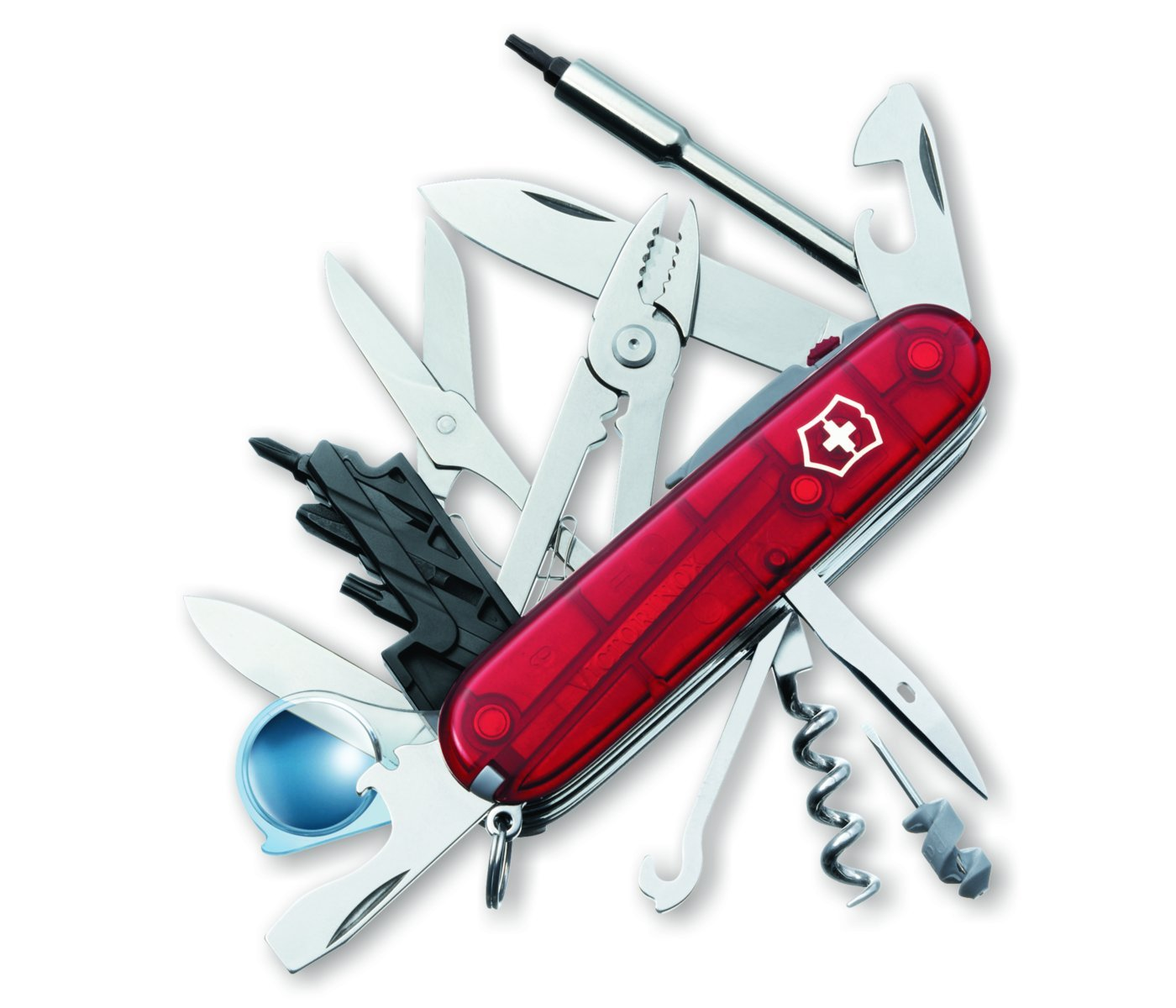 Amazon.com: Victorinox Cybertool lite translúcido Ruby Multi ...