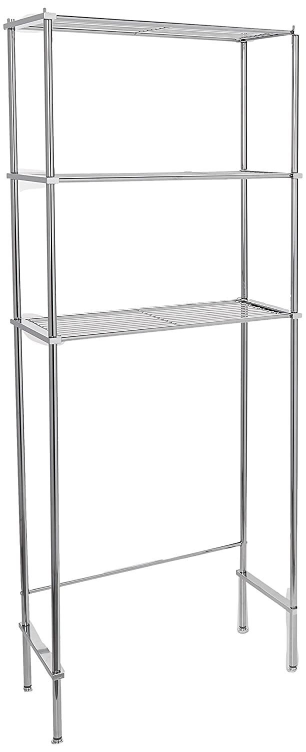 Organize It All 3 Tier Chrome Space Saver Bathroom Organizer 16981W