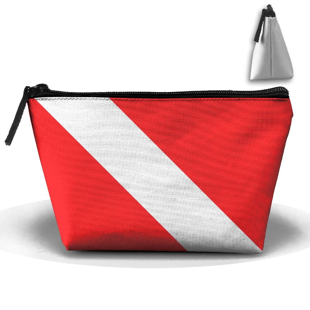 6437ff29d591 durable service Enuain Scuba Dive Flag Makeup Bag Travel Cosmetic ...