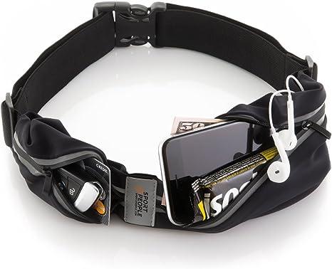 Mini Marsupio Cinta elastico con zip porta chiavi per cellulare sport da viaggio