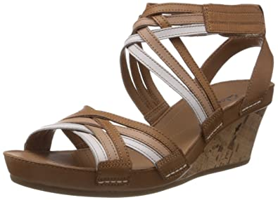 Clarks Women's Rusty Free Leather Fashion Sandals Fashion Sandals at amazon
