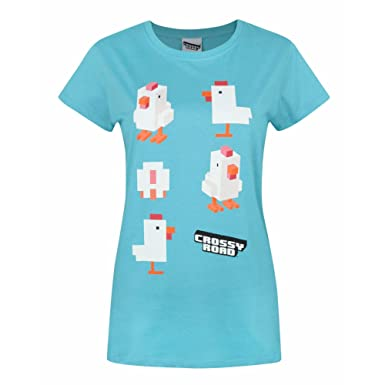 Crossy Road Womens/Ladies Official Chicken Character T-Shirt (Small) (Bright