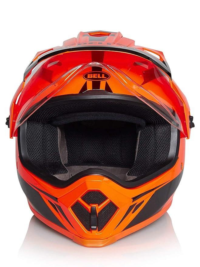 Amazon.es: Bell Cascos MX-9 Adventure MIPS, linterna naranja/negro, grande