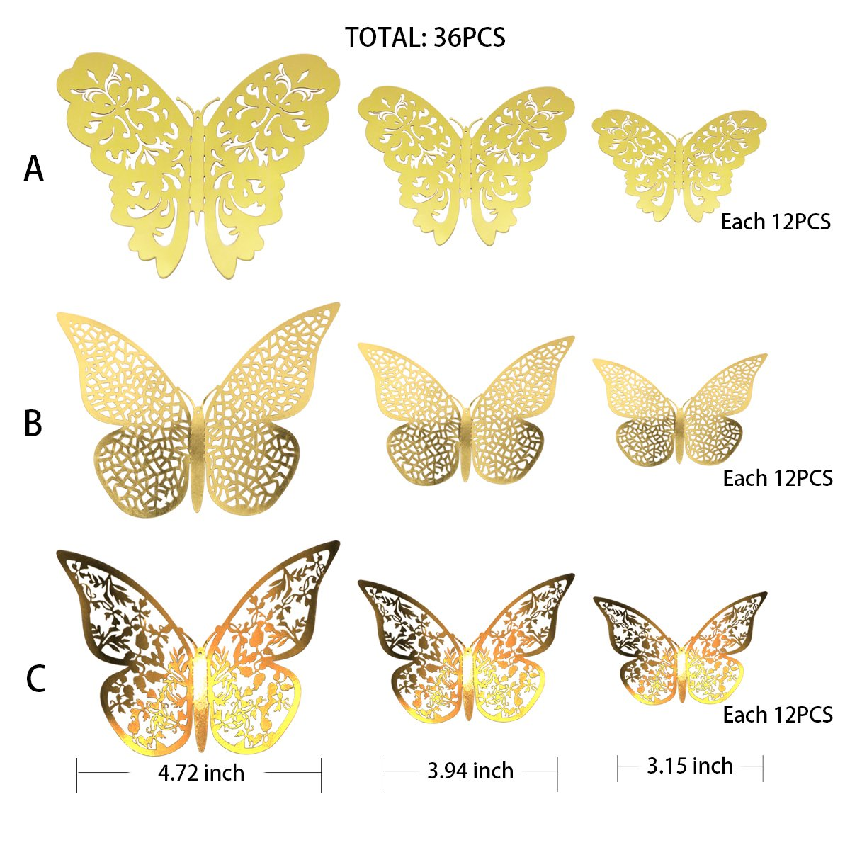 Amazing Brass Butterfly Wall Decor Photos - The Wall Art Decorations ...
