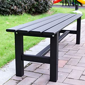Aluminum Outdoor Patio Bench,59.1 x 14.2X 15.7 inches (L x W x H),Multi-Purpose,Outdoor Bench Picnic Table Furniture for Rest Garden Patio, Parks and stadiums