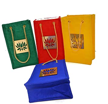Amazon.com: Desi Favors - Juego de 4 bolsas de regalo de ...