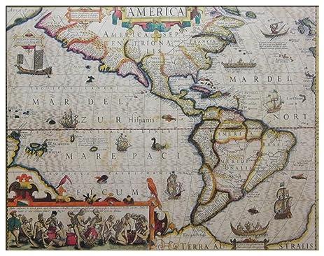 Amazoncom Unframed Print Pyramind Th Century World Map X - 17th century world map