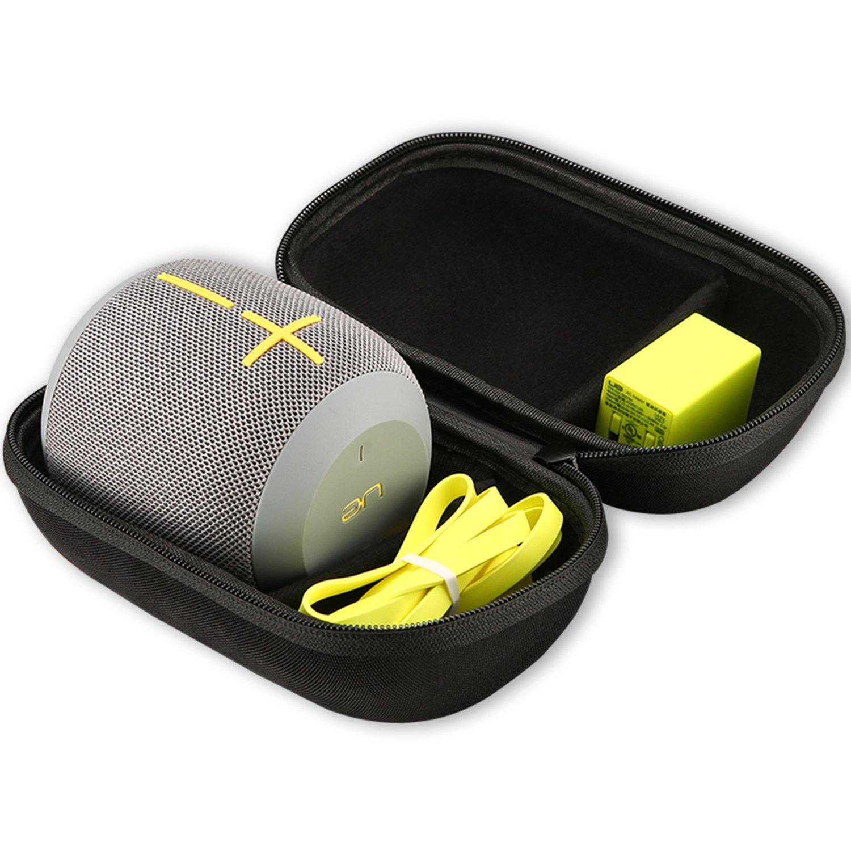 UE WONDERBOOM Case, ProCase Hard EVA Case Travel Bag for Ultimate Ears UE WONDERBOOM Waterproof Portable Wireless Speaker, Fits Wall Charger and USB Cable –Black