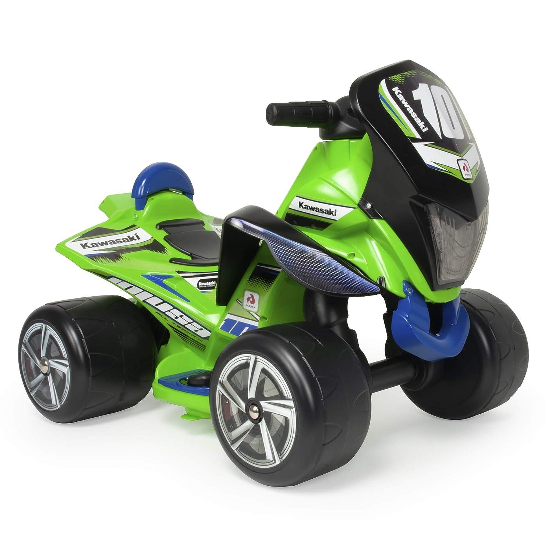INJUSA Quad Kind Batterie 6V grün Kawasaki für Kinder 1 bis 3 Jahre