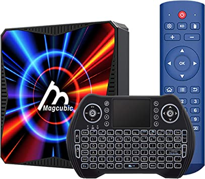 TV Box, Android 10.0 4GB Ram 32GB ROM Allwinner H616 Quad-Core Support Dual WiFi 4K 6K Ultra HD H.265 3D Smart TV Box with Keyboard: Amazon.es: Electrónica