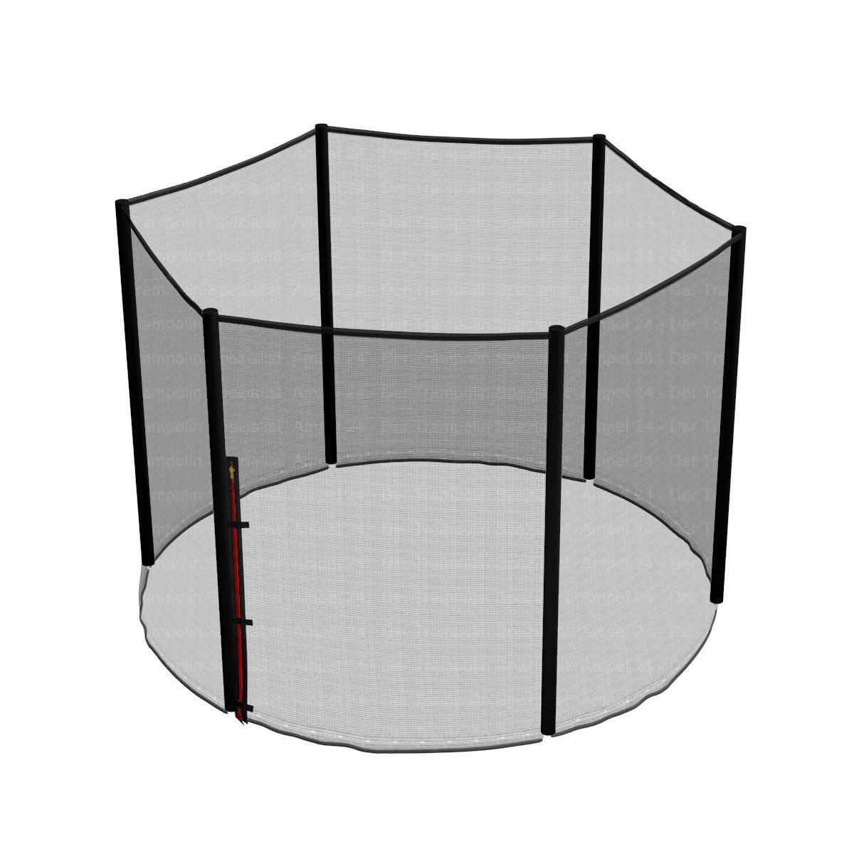 Ampel 24, Red de seguridad de reemplazo para cama elástica 244 cm y 6 barras   barras no incluidas   resistente a los UV   red exterior
