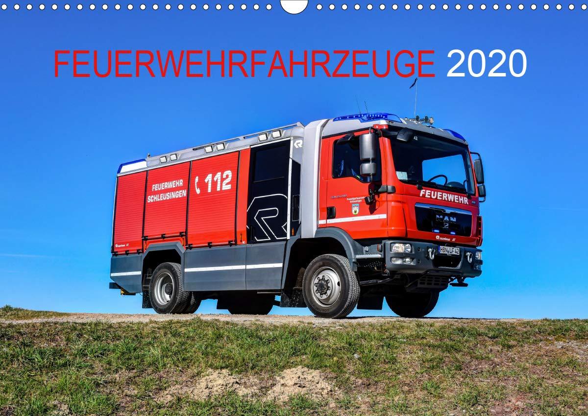 Feuerwehrfahrzeuge  Wandkalender 2020 DIN A3 Quer