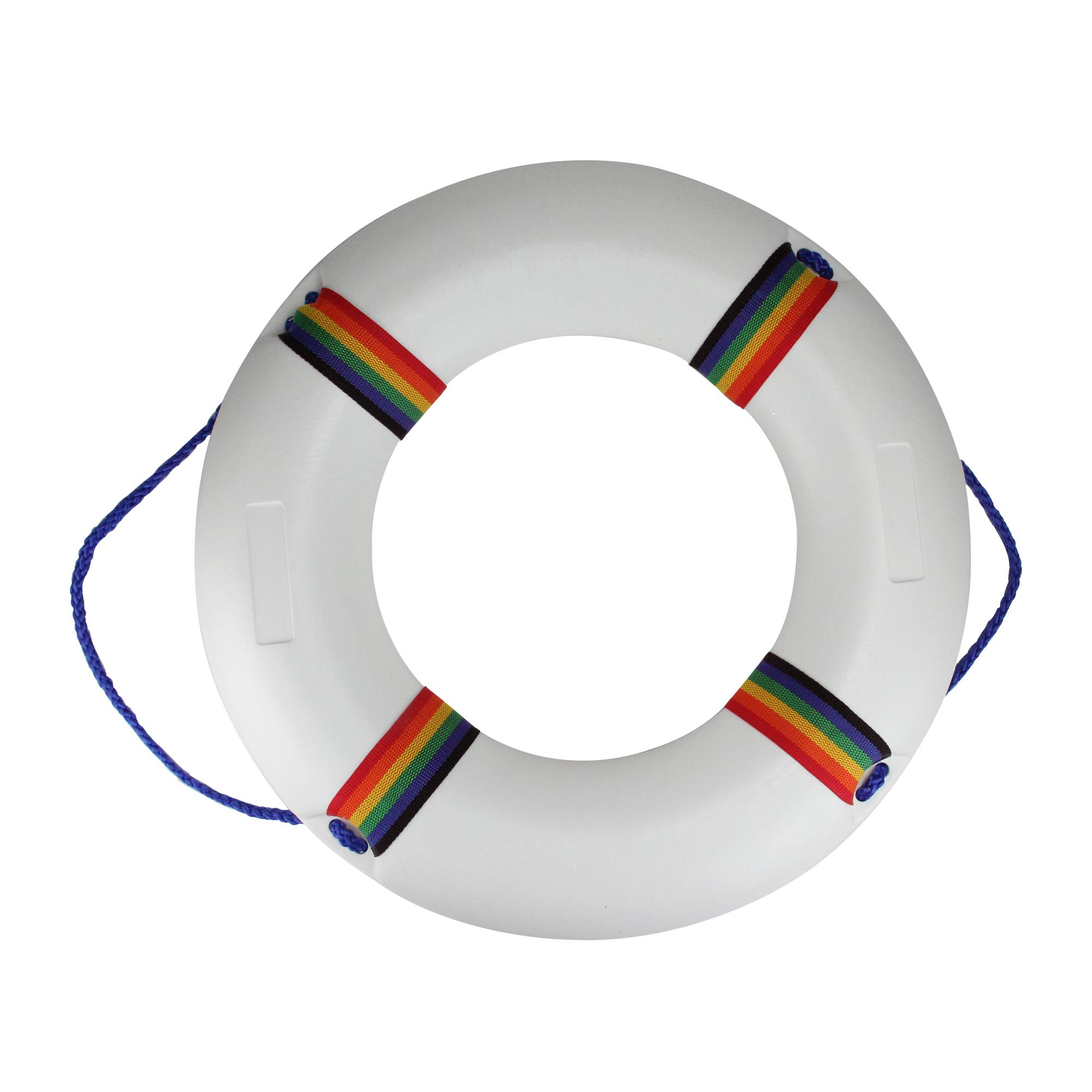 Northlight 21'' White and Multicolored Swimming Pool Summer Safety Ring Buoy by Northlight