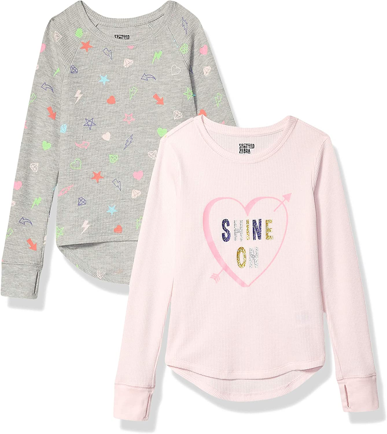 Spotted Zebra 2-Pack Long-Sleeve Thermal Tops Bambina Marchio