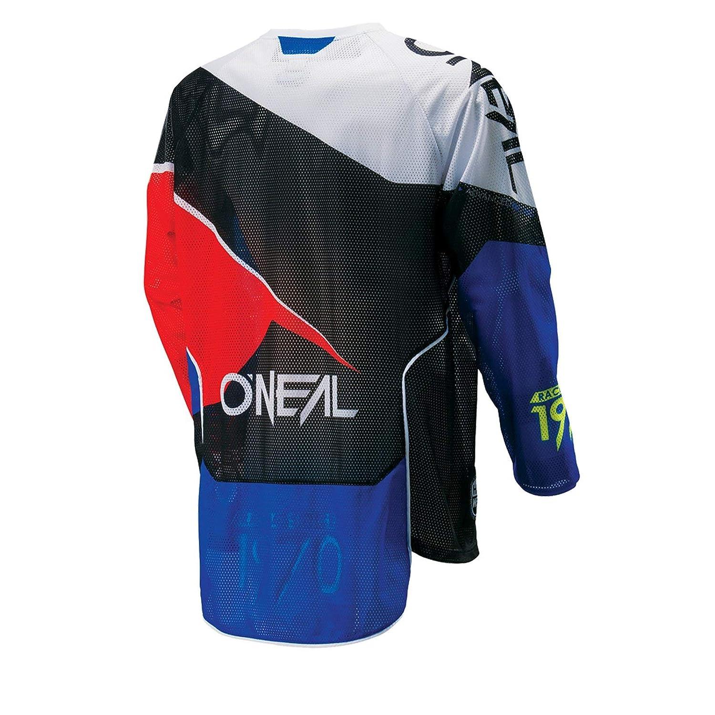 azul y rojo 0027F-80 Camiseta para ciclista ONeal Hardwear MX Flow Enduro para motocross