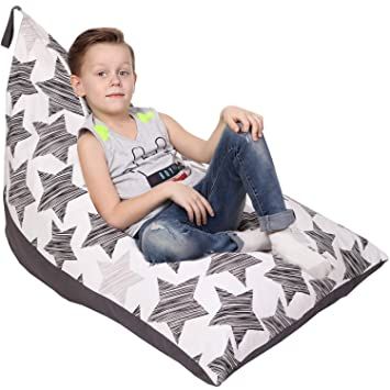Cool Stuffed Animal Storage Bean Bag Cover Only Large Triangle Beanbag Chair For Kids 180 Plush Toys Holder Floor Pillows Organizer For Boys And Unemploymentrelief Wooden Chair Designs For Living Room Unemploymentrelieforg