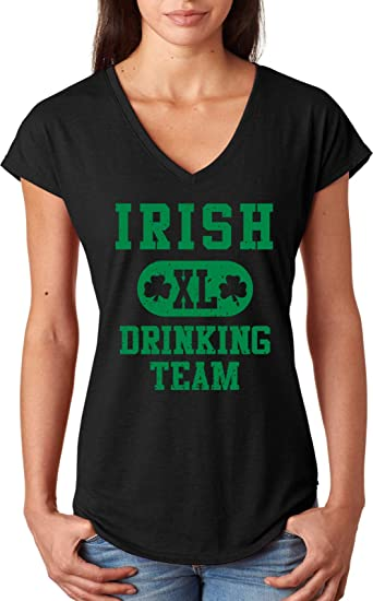b68a2661 A&E Designs Ladies St Patricks Day Shirt Irish Drinking Team Triblend V-Neck:  Amazon.ca: Clothing & Accessories