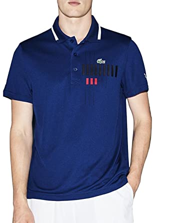 Lacoste Mens Novak Djokovic Collection Mens Blue Polo In Size 7 ...