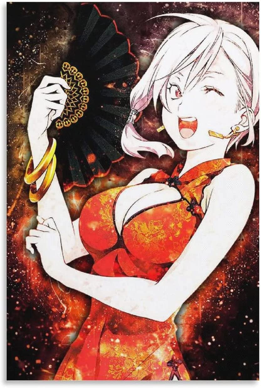 Shokugeki No Soma Anime Impressionism Style Watercolor Food Wars Alices Nakiri Poster Artwork Canvas Wall Art Home Decorations for Living Room Bedroom Painting 16×24inch(40×60cm)
