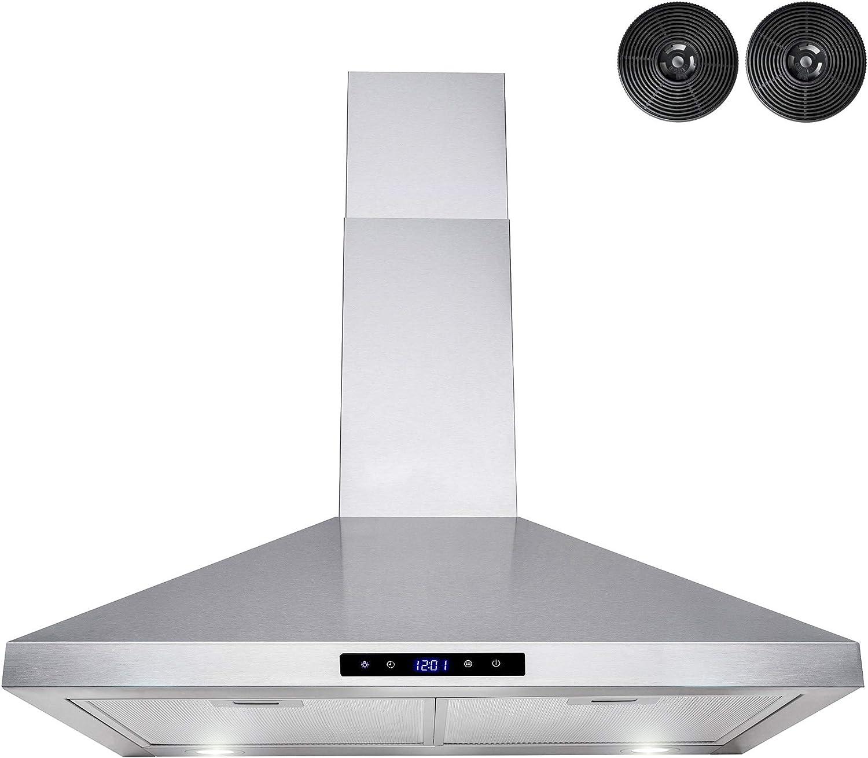 """AKDY Wall Mount Range Hood –30"""" Stainless-Steel Hood Fan for Kitchen"""