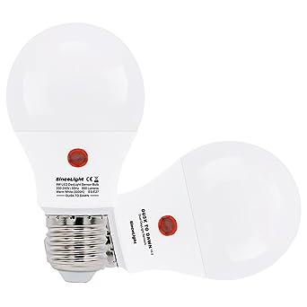 Bombillas LED con sensor crepuscular (sensor de luz solar) • 9 Vatios • Blanco