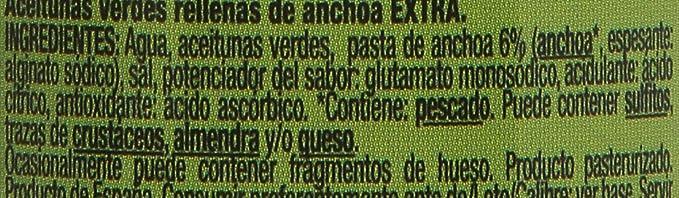Gourmet Aceitunas Rellenas de Anchoa Verdes Manzanilla, Pack de 3 x 50 g, Total: 150 g: Amazon.es: Amazon Pantry