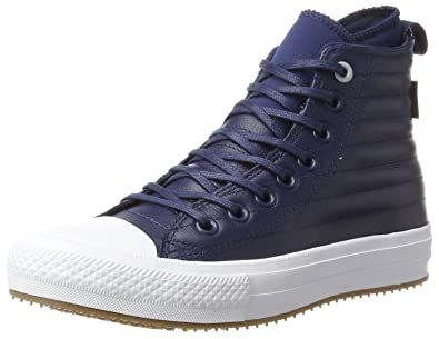 Unisex Adults CTAS Wp Boot Midnight Navy/Wolf Grey Hi-Top Trainers, Blue Converse