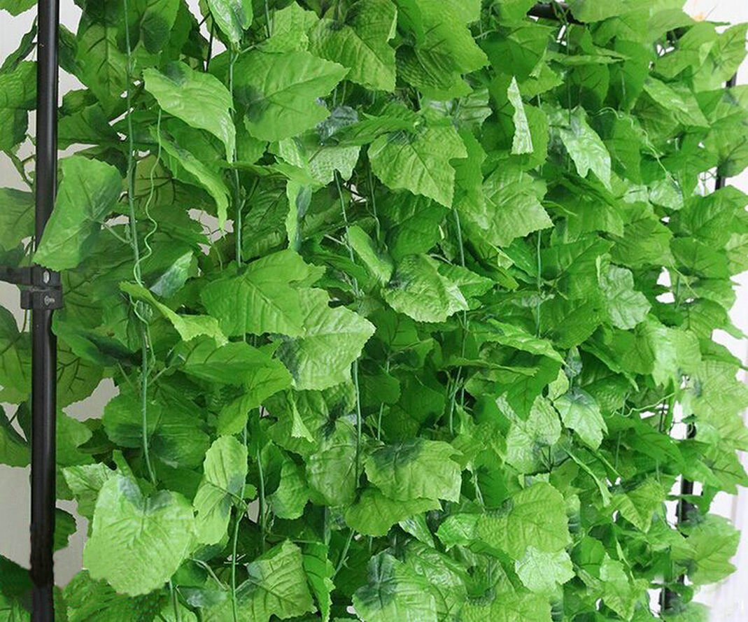 820 FEET ARTIFICIAL Artificial Grape VIne Faux Leaf Plant Faux Ivy Foliage Garlands Party House Kitchen Hotel Decor (100)