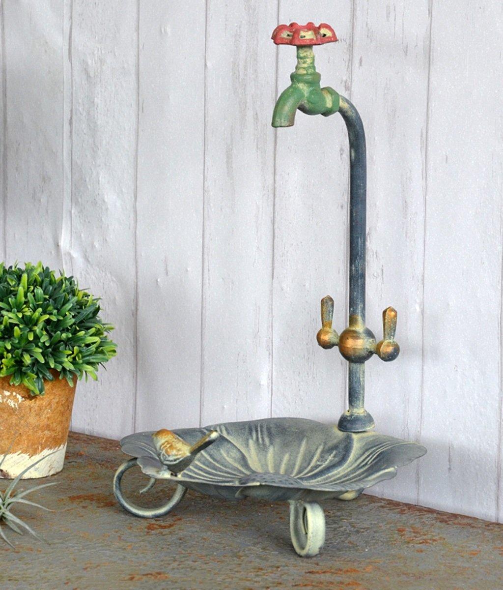 LB huajia ZHANWEI Retro-Schreibtisch-Aufbewahrungsbehälter-dekorative Blumen-Topf-Zahnstange-Schmucksache-Speicher-Becken