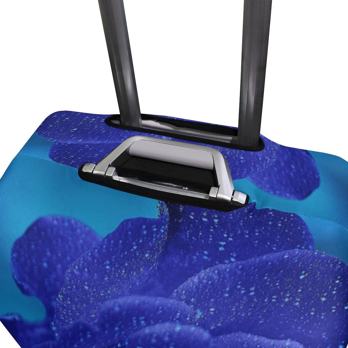Luggage Protective Covers with Blue Rose Washable Travel Luggage Cover 18-32 Inch