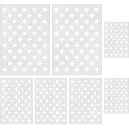 amazon com gejoy 7 pieces star stencil template 50 stars american