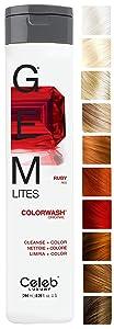 Celeb Luxury Gem Lites Colorwash: Color Depositing Shampoo