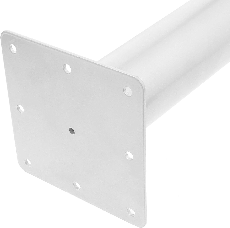 Element System 11101-00059 Pie para muebles aluminio blanco 70 cm