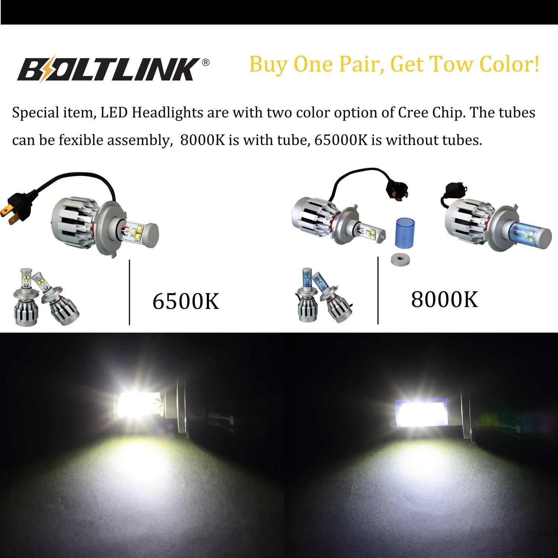 Super brillante LED Faro H4 Kit de conversión, 80W 2000LM 8000K viruta del Cree Led faros, Todo en Uno Reemplaza halógenas y HID Bombillas, H4 Led Faros ...