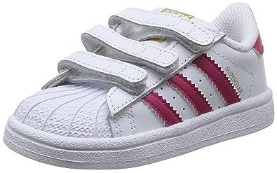 release date: 258cd e06a5 adidas Originals Kinder Superstar Foundation CF C Sneaker Weiß Bold  PinkFTWR White),