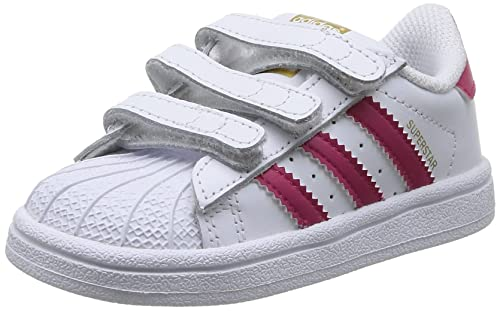 adidas - Superstar Foundation, Sneakers a collo basso infantile, Multicolore (Ftwwht/Bopink