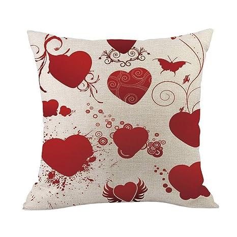 TianranRT - Cojín de feliz día de San Valentín (algodón y ...