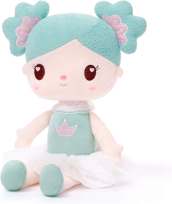 Gloveleya Baby Girl Regalos Muñecas - Peluche Dolly - Trapo Muñeca Candy Girl Soft Pink Toys For Girls 14.5