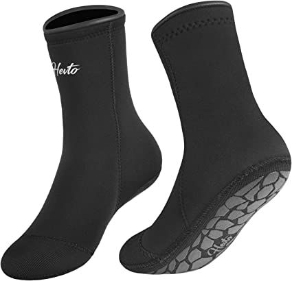 Amazon.com : Hevto Neoprene Diving Socks 3mm Sand 방수 Glued ...