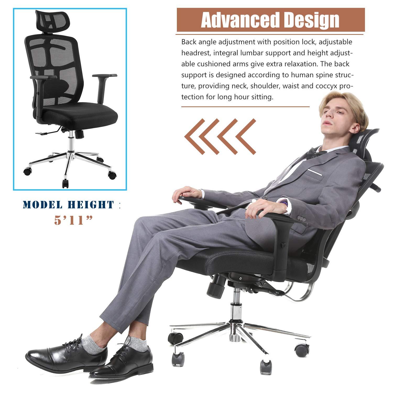 TOPSKY - Silla de oficina de malla ergonómica con mecanismo de ...