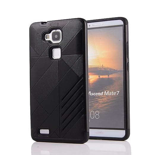 3 opinioni per Huawei Ascend Mate 7 Custodia, Moonmini® 2 in 1 ibrida combinata Body Armor TPU