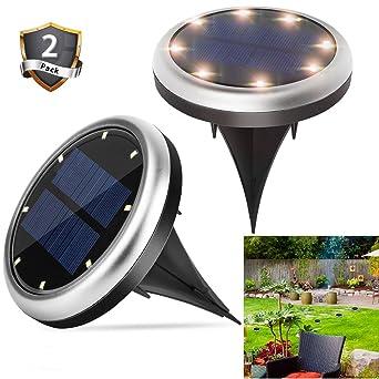 Bodenleuchten, 8 Led Solarlampen Solarleuchten Für Garten Beleuchtung,  Wasserdicht Außenleuchte Led Bodeneinbaustrahler Für Gartendeko