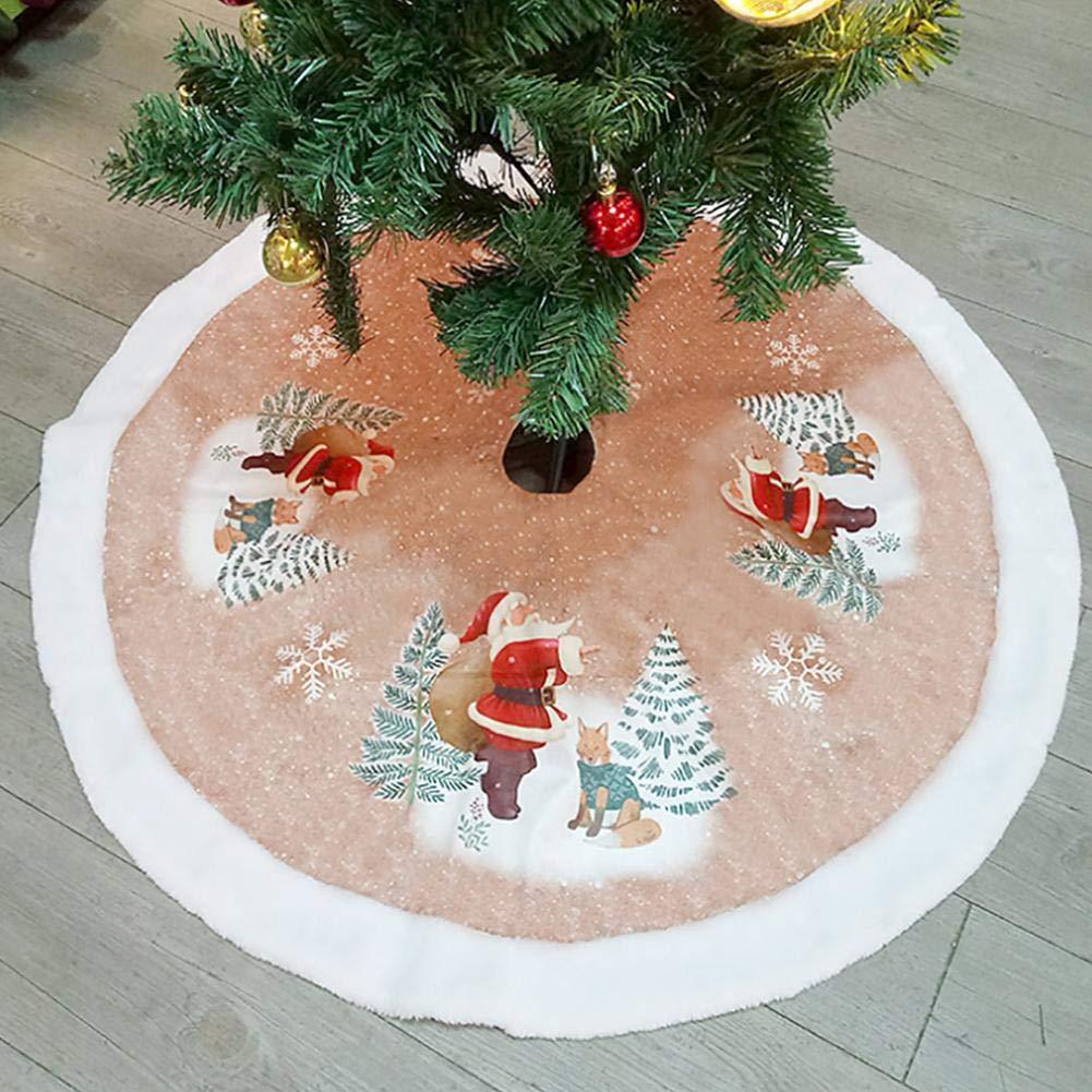 98cm Falda de /árbol de Navidad Falda de /árbol de Navidad Decoraci/ón de Fondo Falda de Franela /Árbol Viejo