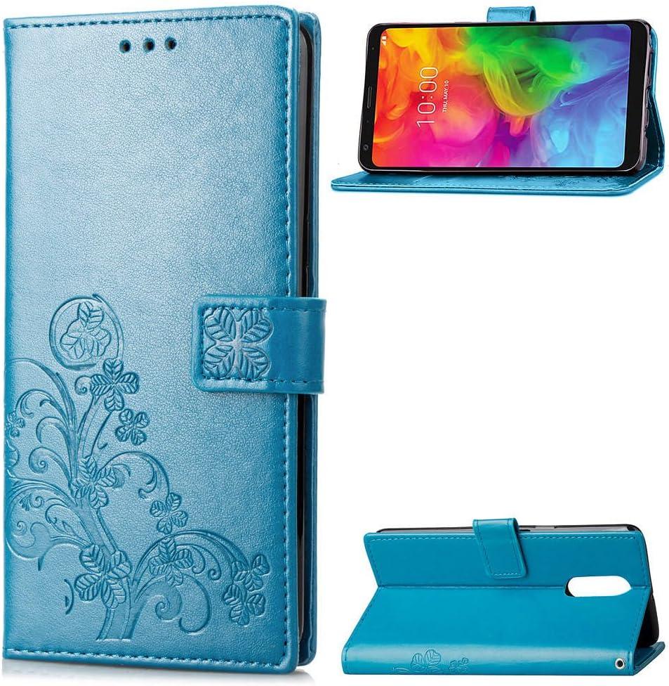Handyh/ülle Q7 Plus H/ülle Leder Case mit Standfunktion Magnetverschluss Flipcase Klapph/ülle kompatibel mit LG Q7 // Q610 Docrax LG Q7 // Q7+ DOSDA041111 Blau