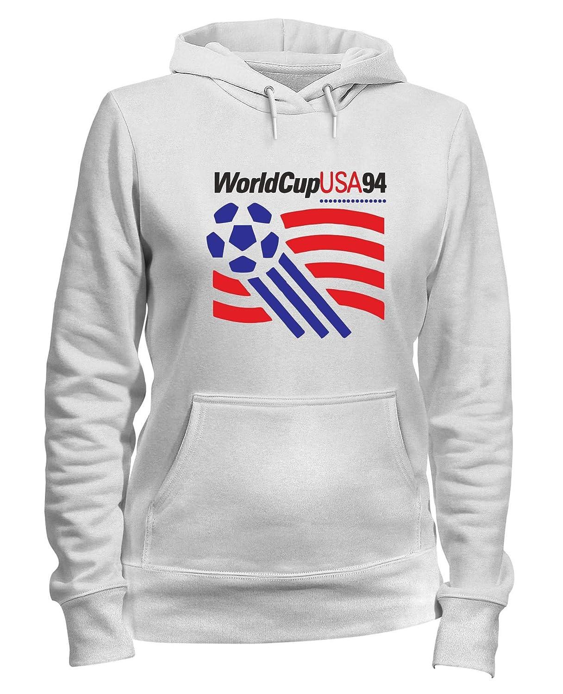 Speed Shirt Felpa Donna Cappuccio Bianca TR0144 USA 94
