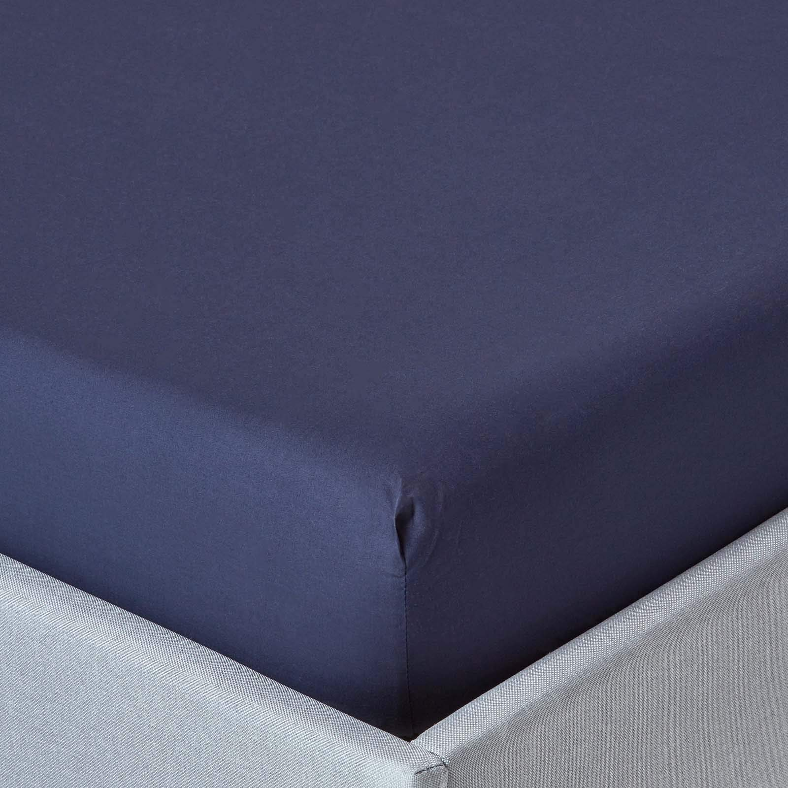Fitted Sheet 46cm Extra Deep 200 TC 100/% Cotton Single Double King