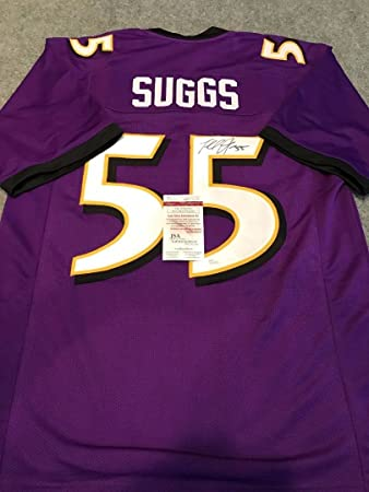 terrell suggs autograph jersey